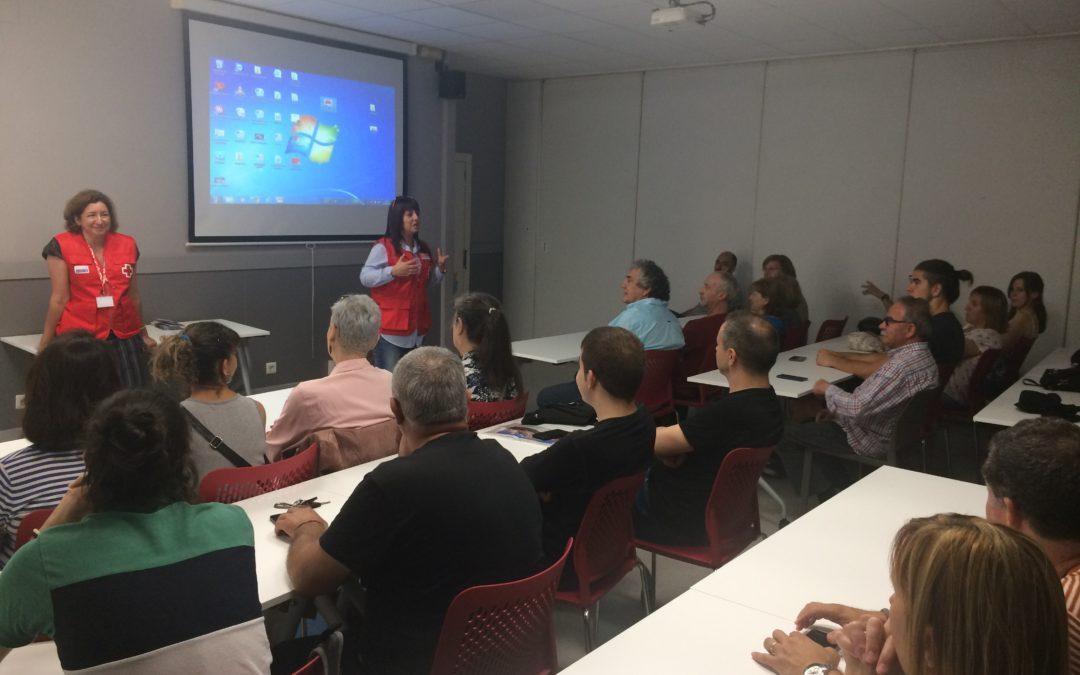 Els ERIE expliquen la seva tasca davant del voluntariat de Creu Roja Sabadell