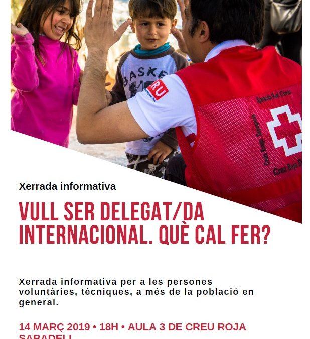 Xerrada com ser delegat/da internacional
