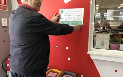 Creu Roja Sabadell rep el distintiu de garantia de qualitat ambiental de la Generalitat