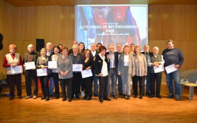 Creu Roja Sabadell distingeix desenes de socis, voluntaris i empreses en el seu acte anual