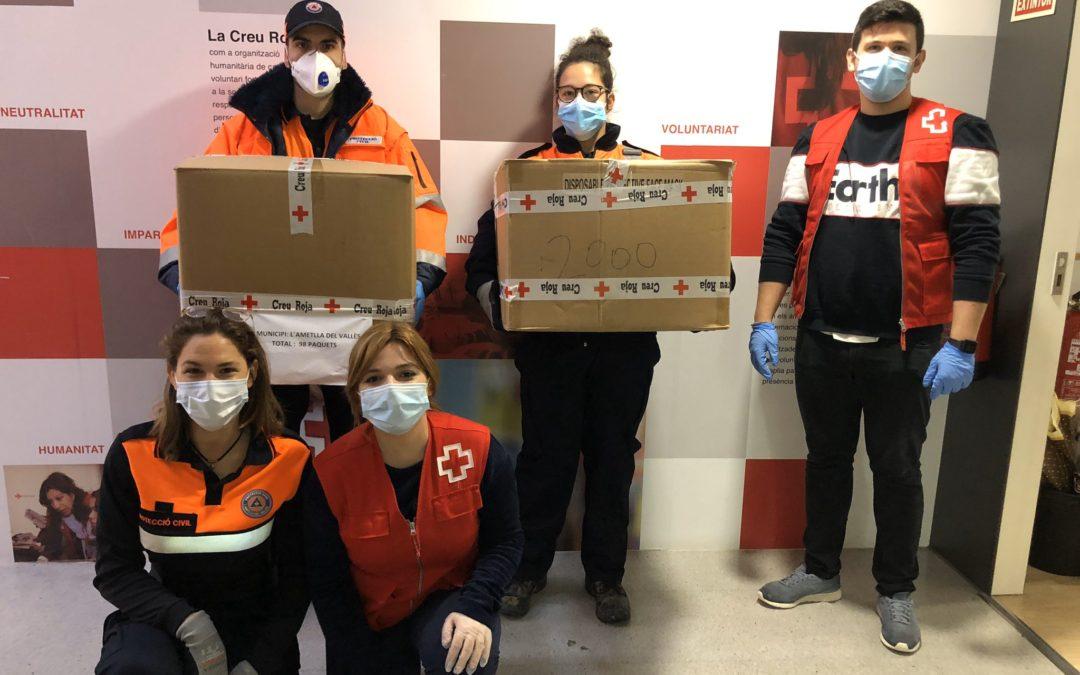 Creu Roja Sabadell reparteix 58.600 mascaretes a diferents ajuntaments